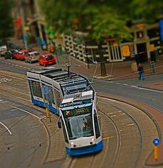 Tilt Shift. Amsterdam tram.