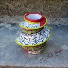 Vase recouvert de pâte polymère