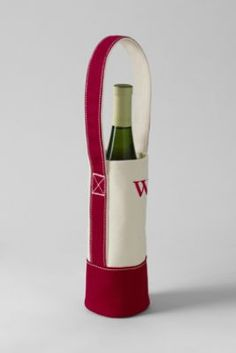 Single Canvas Wine Tote from Lands' End They are great, my mom bought them for our family and friends at her school for Christmas.