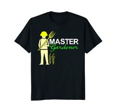 Master #Gardener #Tshirt, casual comfortable #fashion #clothing for the person who loves #gardening.  Several colors and sizes, makes great shirt gifts too.  Shop now