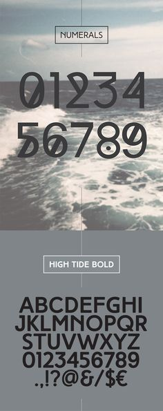 High Tide – unique free font family of three completely different weights – Regular, Bold and Original! High Tide is an all caps, decorative typeface designed to be most suitable for titles, headlines, posters, logos, etc.