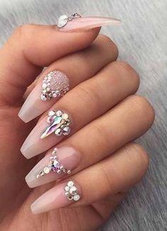 Bling Acrylic Nails, Acrylic Nail Art, Glitter Nail Art, Bling Nails, Stylish Nails, Accent Nails, Nail Inspo, You Nailed It, Nail Colors