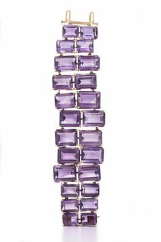 Suite of Amethyst Necklace, Bracelet and Earrings by Ruser from the collection of Joan Crawford