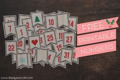 free printable daily numbers | feed your craft: Documenting December 2014 {Gearing Up}