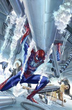 Alex Ross-Amazing Spider man #16 cover Original Comic Art- W.B.