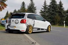Polo 6R gti Vw Polo Modified, Hot Vw, Vw Gol, Vw Scirocco, Le Polo, Volkswagen Polo, Car Decals, Sticker, Vw Cars