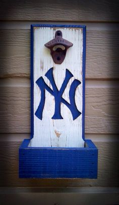 New York Yankees Bottle Opener With Cap by TreyColeCreations, $37.00