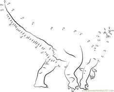Dinosaur Dot to Dot Tracing | Activity Shelter