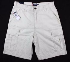 New Chaps Men's Cargo Flat Front Shorts Light beige size 32 MSRP $60 #Chaps #Cargo