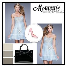 """La Femme 21332 Powder Blue Chiffon Short Homecoming Dress"" by homecomingqueendress on Polyvore featuring Gianvito Rossi, dress and Homecoming"