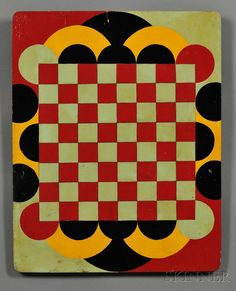 Polychrome-painted Art Deco Game Board | Sale Number 2608M, Lot Number 840 | Skinner Auctioneers