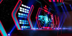 Careers Stage Design, Set Design, Futuristic, Scene, Neon Signs, Hanoi, Behance, Stage Equipment, Design Set