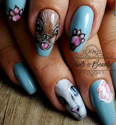 Cat Nails, Nail Art, Model, Handmade, Beauty, Instagram, Nail Designs, Hand Made, Nail Arts