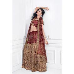 Maroon Net #Lehenga With Matching Maroon Choli And Dupatta #IndianLehenga #WomenClothing #EthnicWear #WomenWear #WomenFashion