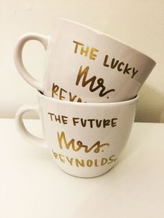 A perfect gift for the newly engaged couple, or a great addition to your own mug collection! Options to personalize yours or your recipients