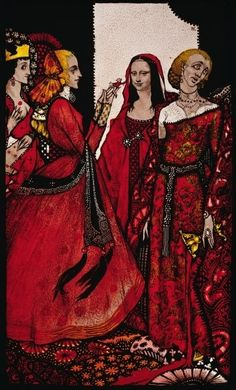 """Queens whose finger once did stir men"" Illustration by Harry Clarke from 'Queens' by J. Man Illustration, Illustrations, Harry Clarke, Irish Art, Arts And Crafts Movement, Mona Lisa, Wonder Woman, Superhero, Queens"