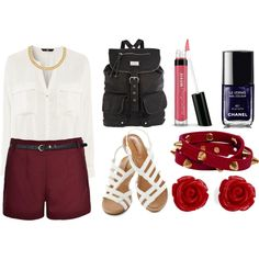 Crimson by timeandcouture on Polyvore