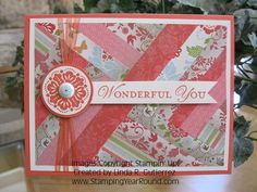 Quilting meets card making. Great use of scraps, too!
