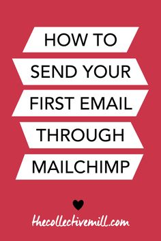 How to Send Your First Email Through MailChimp Business Marketing, Email Marketing, Content Marketing, Business Tips, Online Business, Social Media Marketing, Digital Marketing, Marketing Strategies, Marketing Ideas