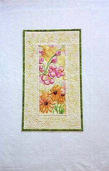 Obrázky - Textilný obraz - kvetná nálada 2 - 7144813_ Napkins, Quilts, Comforters, Towels, Dinner Napkins, Quilt Sets, Kilts, Patchwork Quilting, Lap Quilts
