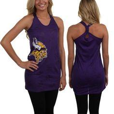 Women's Minnesota Vikings Majestic White Champion Swagger V-Neck T-Shirt