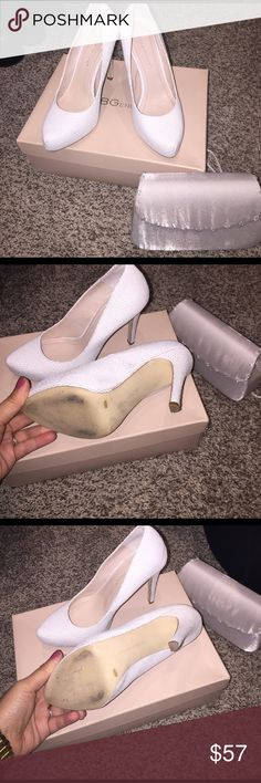 BCBG White Snake Skin Platform High Heel. Size 6.5 BCBG White Snake Skin Platform High Heel. Size 6.5 about a 4 1/2 in Heel. Worn for a wedding no longer need them. Hopefully someone new can enjoy them for their special occasion or night out on the town. BCBGeneration Shoes Heels