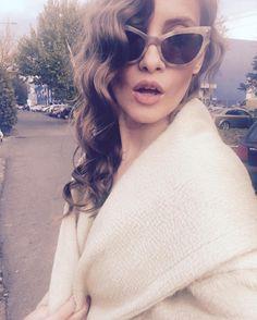 Iulia Albu Star Fashion, World Of Fashion, Sunglasses Women, Rocks, Instagram Posts, Casual, Hair, Inspiration, Outfits