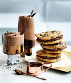 Australian Gourmet Traveller recipe for salted oat and chocolate cookies :: Gourmet Traveller