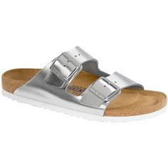 Birkenstock Arizona Soft Footbed Leather Sandal ($135) ❤ liked on Polyvore featuring shoes, sandals, flats, kirna zabete, shoes /, leather flats, flat pumps, birkenstock shoes, flat shoes and birkenstock sandals