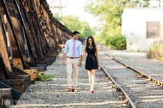 11 strip district railroad - Anita + Anand | Strip District and Schenley Park Engagement Photos
