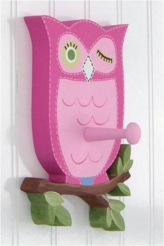 Brooke Owl Wall Peg