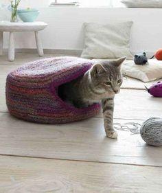 Nuevo mini cama del animal doméstico Colgante de Gato Gatito Casa De Ratán Cesta Hecho a Mano Nido au Stock