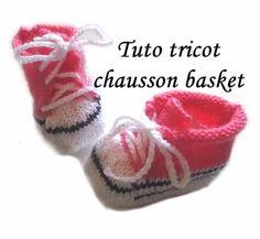 Chaussons de bébé au tricot - tutoriel
