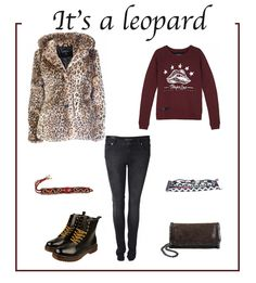 Shop this look @ www.everythingisfashion.nl #leopard #lips #sweater #nolanova #jeans #phatoak