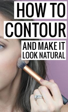 How to contour and make it look natural - this contour tutorial is perfect for every day looks. Natural and realistic, while still giving you chiseled and defined features!