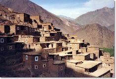 Ciudad bereber del alto Atlas