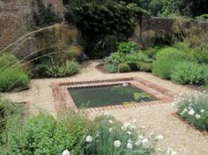 1000 images about pool on pinterest water fountains for Brick fish pond