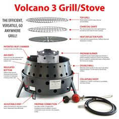 Amazon.com : Volcano Grills 3-Fuel Portable Camping Stove : Sports & Outdoors
