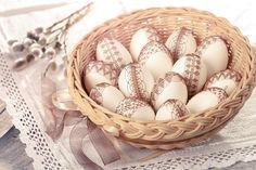 +++ Krajkové drátkované kraslice - Velikonoční +++