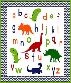 ABC Dinosaur Baby or Toddler Quilt Pattern Baby Patterns, Quilt Patterns, Raw Edge Applique, Toddler Quilt, Boy Quilts, Baby Boy Or Girl, Pattern Making, Color Show, Sewing Projects