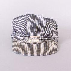 Vintage 60s RAILROAD HAT / 1960s HERCULES Sears Sanforized Hickory Stripe Denim Engineer Men's Cap #vintage #vintagefashion #raiilroad #hickory #60s #60sfashion #mens #mensfashion #menswear