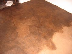 Affordable way to cover cement floors that look amazing, using paper bags Paper Bag Floor