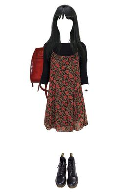 """Matilda"" by sorcharose on Polyvore featuring Boohoo, Dr. Martens, Amber Sun, women's clothing, women's fashion, women, female, woman, misses and juniors"