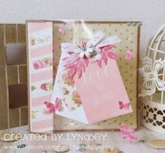 First Edition Love Story Acetate tag card by design team member Lyndsey