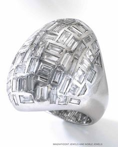 Suzanne Belperron | Diamond ring of bombe design c1956.