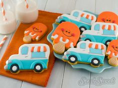 How to Make Ice Cream Truck Cookies by Semi Sweet Designs