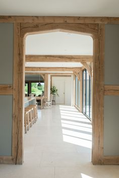 Since 1980 Border Oak have specialised in the design and construction of exceptional bespoke oak framed buildings across the UK and abroad Barn Conversion Interiors, Barn Conversion Kitchen, Oak Framed Extensions, Border Oak, Oak Framed Buildings, Metal Buildings, Oak Frame House, Wood Door Frame, Converted Barn