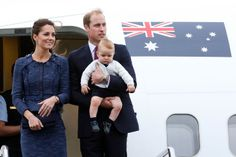 Prince William & Kate Middleton with baby