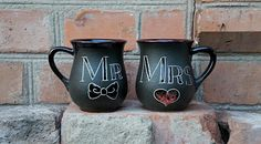 Wedding gift for couple mugs Mr and Mrs mugs His and Hers mugs engagement mug set Bride and groom gift set Ceramic coffee mug Bridal gift ************** This ceramic Mr and Mrs mugs made of clay and hand-painted with love. His and Hers mugs can be a unique and unrepeatable wedding gift for couple, bridal gift, bride and groom gift set , shower gift.  This ceramic coffee mug is extremely positive, as is made only from natural raw materials. Enjoy a little art in your life!  This listing is…