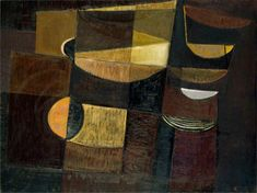Brown Harbour by Terry Frost Date painted: 1952 Oil on canvas, x 117 cm Collection: National Museum of Wales National Museum Of Wales, Abstract Expressionism, Abstract Art, Peter Wood, British Paints, Art Uk, Your Paintings, Figure Painting, Yorkie